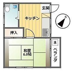 菅原マンション[201号室]の間取り
