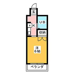 レジデンス掛川[6階]の間取り