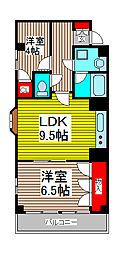 広友川口マンション[6階]の間取り