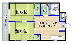 日野ハイツ[201号室]の間取り