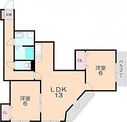 ヴィラウッドランド2[3階]の間取り