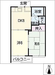 フレグランス荒子A棟[1階]の間取り
