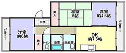 イワイマンション[3階]の間取り