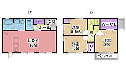 [一戸建] 兵庫県西宮市柳本町 の賃貸【/】の間取り