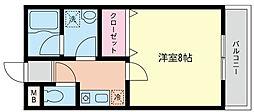 神奈川県横浜市戸塚区小雀町の賃貸アパートの間取り