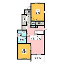 メゾン・ジュネスI[1階]の間取り