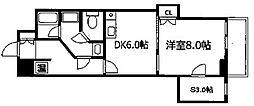 ロックシャローズ博多[6階]の間取り