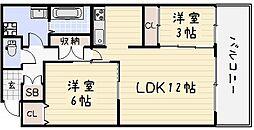 トーマスタワー[1306号室]の間取り