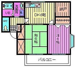 グリーンハイツ松澤[1階]の間取り