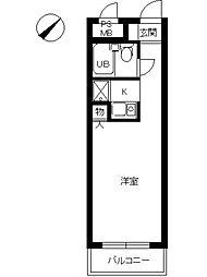 スカイコート本郷東大前 2階ワンルームの間取り