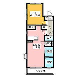 カーサベッロKII[1階]の間取り