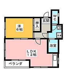 クレール中央[2階]の間取り