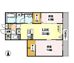 (仮称)D-room勝山北2丁目[3階]の間取り