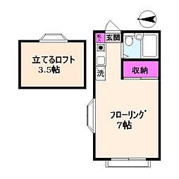 カサベルデ小坂[201号室]の間取り
