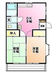 コーポカレンA[2階]の間取り