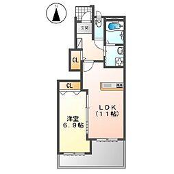 (仮称)K様賃貸アパート新築工事[1階]の間取り