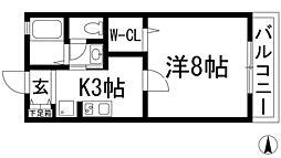 大阪府池田市大和町の賃貸アパートの間取り