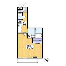 フォレスタ[3階]の間取り