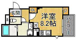 Theユアサホーム 2階1Kの間取り