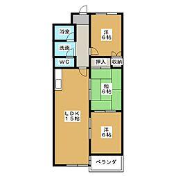 インペリアル京都[10階]の間取り