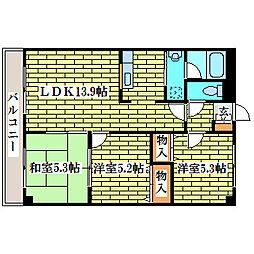 ライブヒルズ小川[4階]の間取り