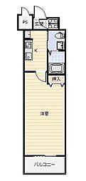No.65 クロッシングタワー ORIENT BLD.[303号室]の間取り