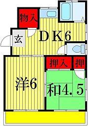 コーポウダガワ[2階]の間取り