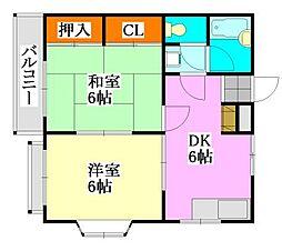 千葉県船橋市中野木1の賃貸マンションの間取り