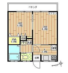 第2石黒サンハウス[2階]の間取り
