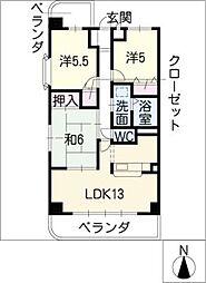 第II山忠ビル[4階]の間取り