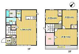 [一戸建] 大阪府箕面市粟生新家2丁目 の賃貸【/】の間取り