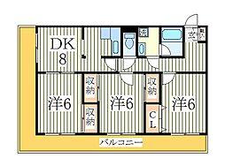 ファミール新柏[3階]の間取り