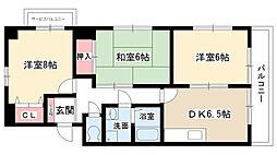 愛知県名古屋市名東区梅森坂西2の賃貸マンションの間取り
