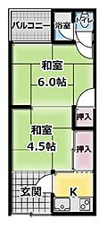 [テラスハウス] 大阪府門真市打越町 の賃貸【/】の間取り