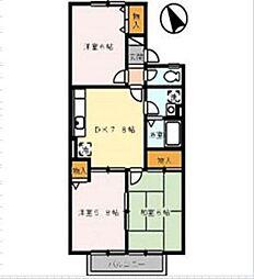セジュール安東[2階]の間取り