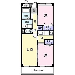 ラ・コスモス[2階]の間取り