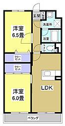 アンソレイユII[2階]の間取り
