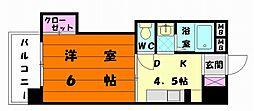 プチメゾーン唐原[2階]の間取り