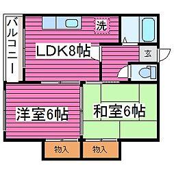 北海道札幌市西区発寒十五条2丁目の賃貸マンションの間取り