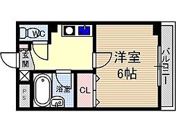 末広13番館[5階]の間取り