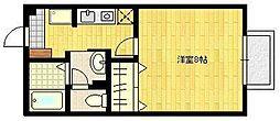 JR長崎本線 佐賀駅 バス15分 医大北団地下車 徒歩5分の賃貸アパート 1階1Kの間取り