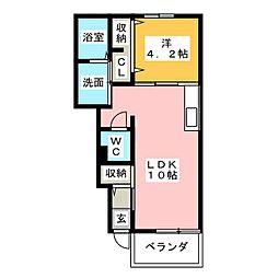 パルファンI[1階]の間取り