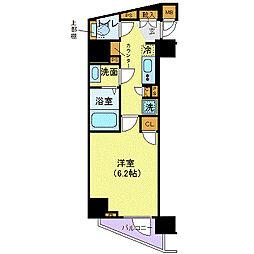 メイクスデザイン西新宿 4階1Kの間取り