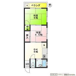 桜マンション 100B[302号室]の間取り