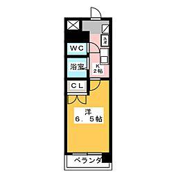 岡地レジデンス月ヶ丘[2階]の間取り
