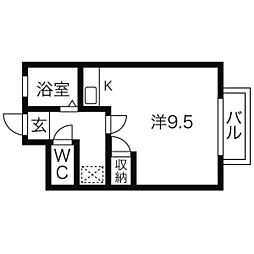 宮城県仙台市太白区泉崎2丁目の賃貸アパートの間取り