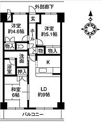 サンドマーニ弐号館[2階]の間取り