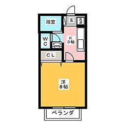 サン・friends藤ノ木II[2階]の間取り