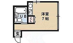 F・COURT 2階ワンルームの間取り