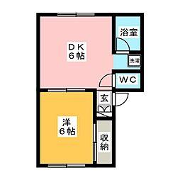 シュガーハイツ[1階]の間取り